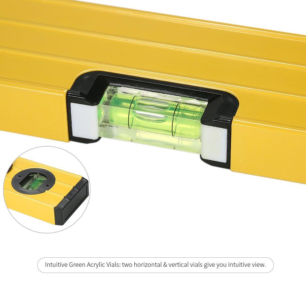 Walmeck 400mm Digital Measuring I-Beam Spirit Level Angle Gauge Finder Torpedo Level with Magnetic Base Backlight LCD Display by Walmeck-1 (Image #9)