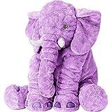 Stuffed Elephant Fluffy Giant Elephant Stuffed Animal Durable Elephant Plush Toy Large Soft Toy Gifts For Kids 24 Inches 1kg Purple