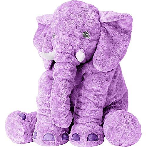 Plush Elephant Soft Stuffed Elephant Plush Animal Toy 24 Inches, Purple