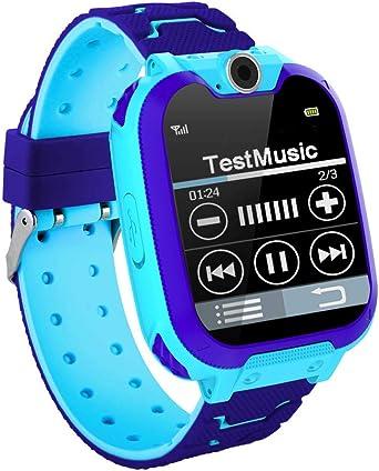 NWHEBET S11 Smartwatch Niños Teléfono Smart Watch con Juegos, Resistente al Agua, cámara Digital Reloj 1,44 Pulgadas Touch LCD, cámara Despertador grabadora con Correa de Silicona: Amazon.es: Relojes