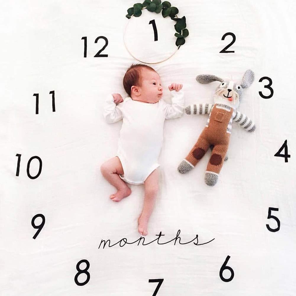 New Mom Baby Shower Swaddling Month f/ür Fotografie Babys Motiv Fotografie Hintergrundstoff Photo Prop f/ür das Wachstum Ihres Kindes Isuper Decke f/ür Baby//Kleinkinder
