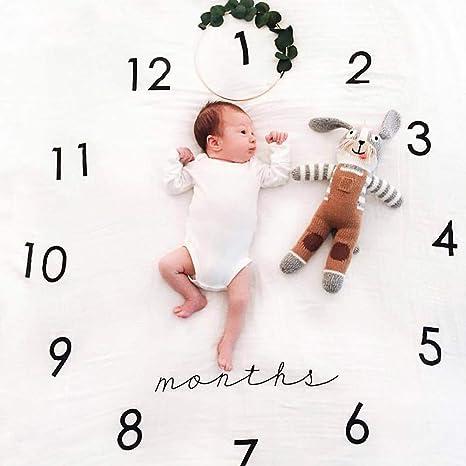 Regalos Para Bebes De Un Mes.Manta Para Bebe Con Diseno De Hitos Para Fotografia Y Fotos Para Hacer Un Seguimiento Del Crecimiento De Tu Bebe Bebe Bebe Natacion Mes Para