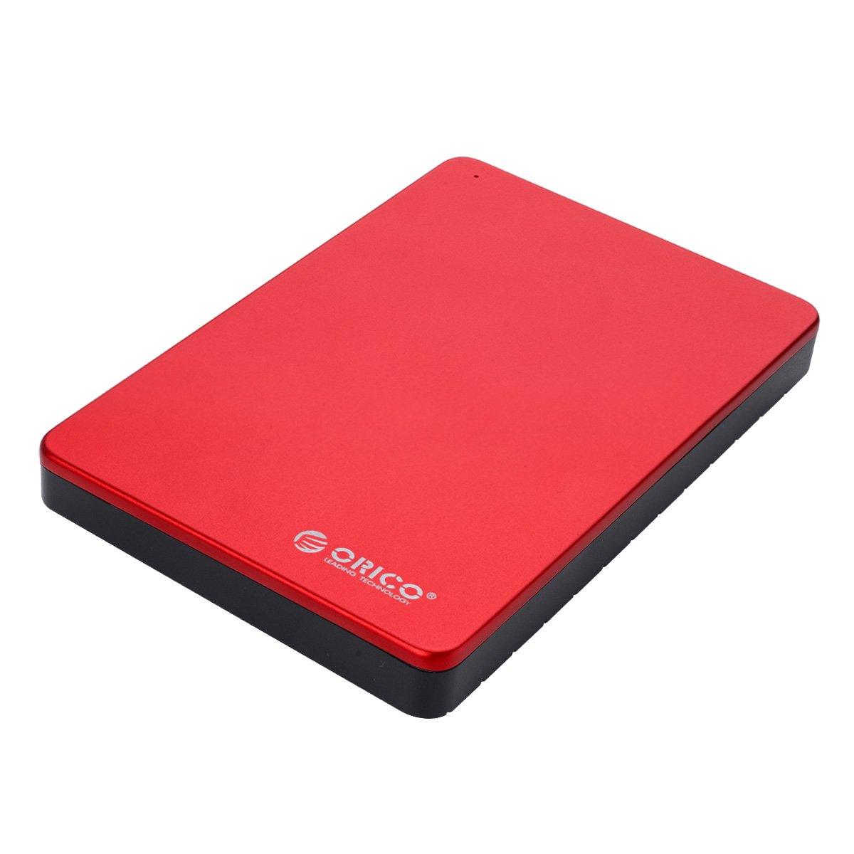 ORICO Ultra Compact 2.5 inch Hard Drive Enclosure, Aluminum USB3.0 HDD Enclosure for SATA HDD/SSD - Tool Free