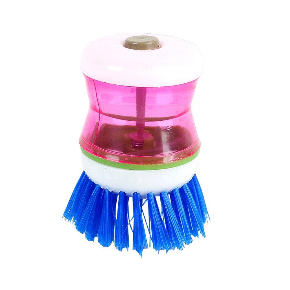 GXOK Palm Wash Clean Brush, Easy Use Wash Clean Tool Holder Soap Dispenser Brush Dish Washer Brush