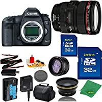 Great Value Bundle for 5D MARK III DSLR – 24-105MM L + 2PCS 32GB Memory + Wide Angle + Telephoto Lens + Case