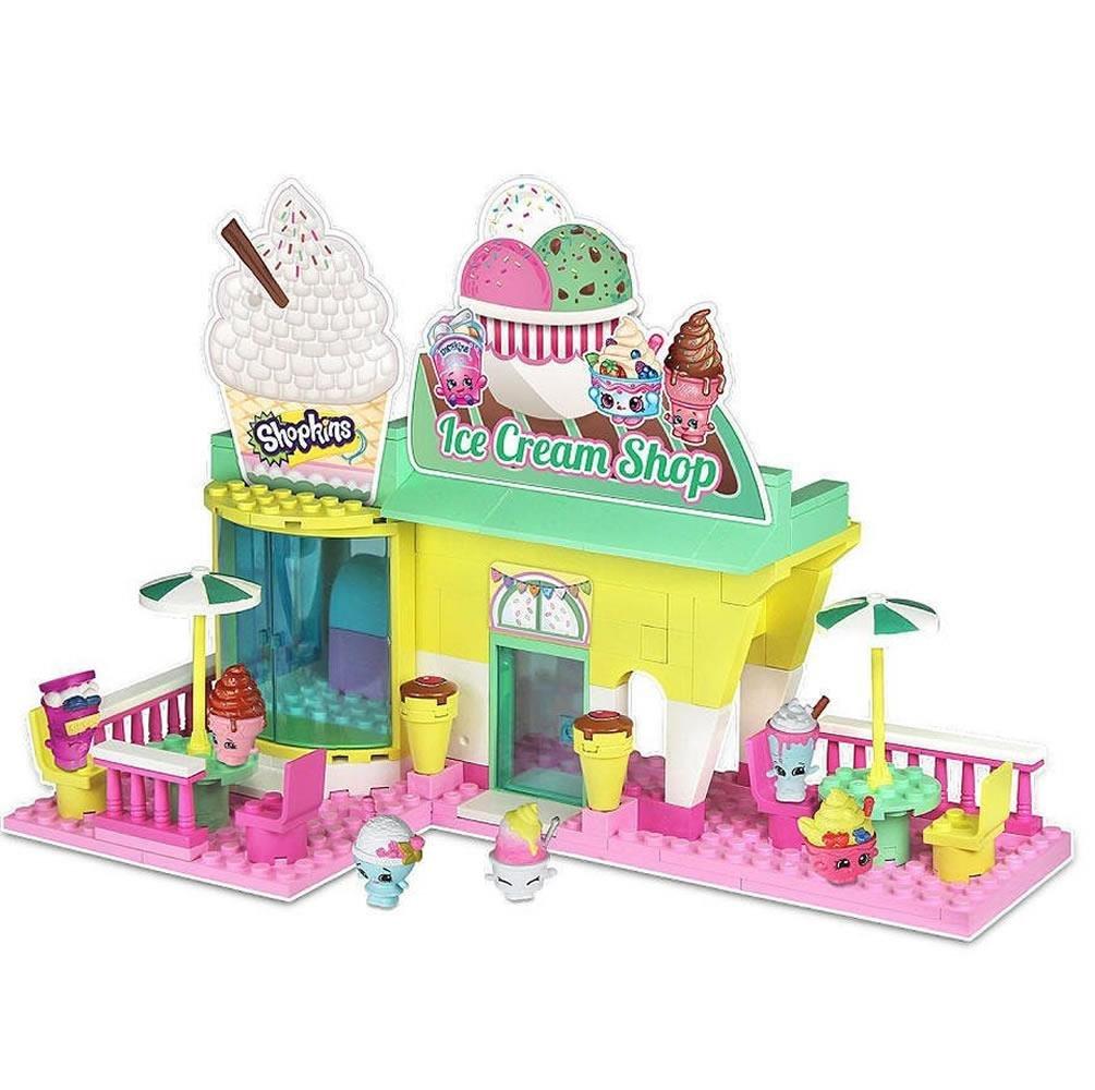 Shopkins Kinstructions Ice Cream Shop Playset 185 Pcs
