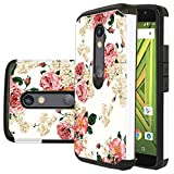 Droid Maxx 2 Case, Droid Maxx 2 Wallet Case, Harryshell(TM) Flower Tower 3D Bling Crystal Rhinestone Diamond Wallet Folio Leather Flip Case Cover with Card Slot for Motorola Droid Maxx 2/ Moto X Play