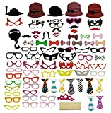 76 PCS Photo Booth Props DIY Kit for Wedding Birthday Reunions Parties ...