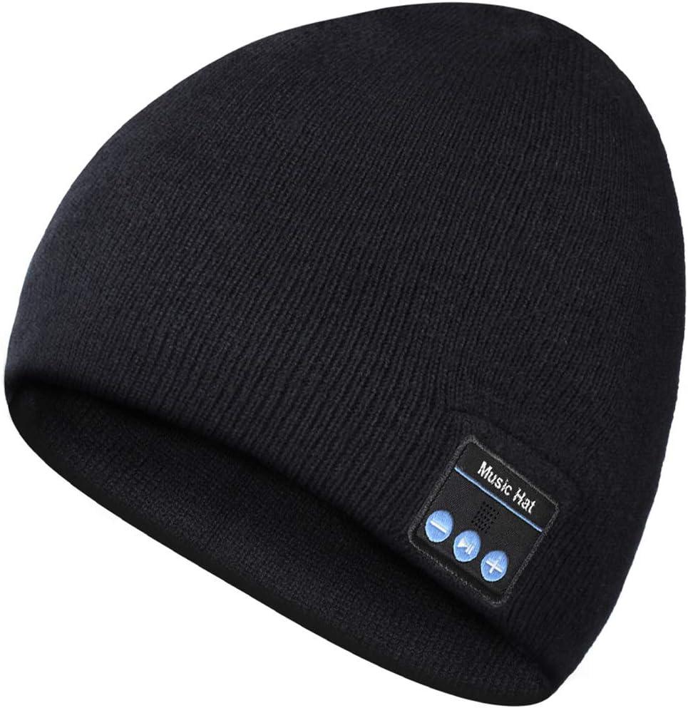 Gorra Bluetooth, Hombre Regalos Bluetooth Sombrero, Hombre Gorra Bluetooth 5.0, Auriculares con Micrófono, Hombres Mujeres Regalos, Regalos Electrónicos para Hombres, Regalos de Moda para Mujeres
