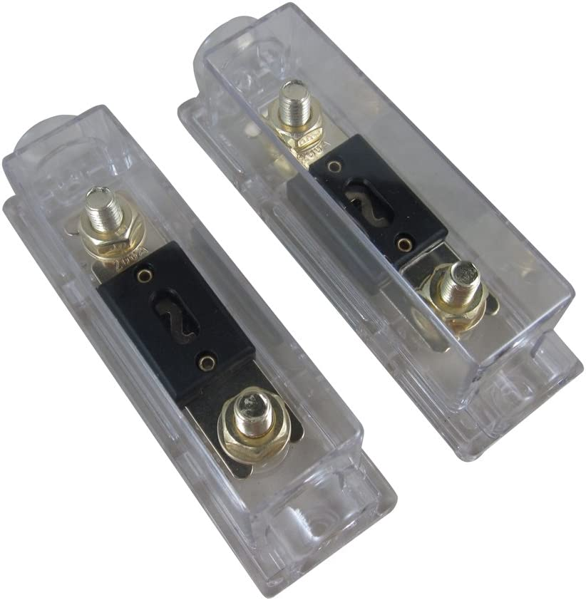 Heavy Duty ANL Fuse Holder 0 2 4 In//Out Gauge with 300 AMP 300A Fuse