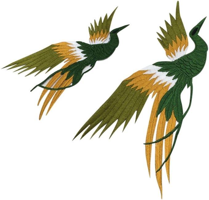 handfly pájaro Applique, Phoenix pájaro bordado parches Sew gamuza ...