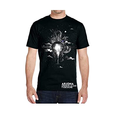 Ricardo Arjona Official Merch Mens T-Shirt APAGUE LA Luz Y ESCUCHE Camiseta de Hombre