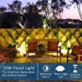 20W LED Flood Lights Outdoor - LED Lights 100W Equivalent IP65 Waterproof LED Work Light 1600Lm 3000K LED Spotlight Warm White Outdoor Lights for Garage, Garden, Yard, Party