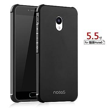 Hevaka Blade Meizu M5 Note Funda - Suave Silicona TPU Carcasa Smart Case Cover Para Meizu M5 Note - Negro