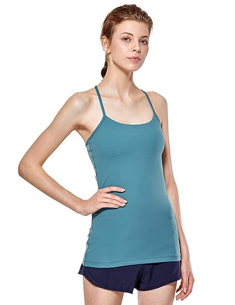 CRZ YOGA Camiseta sin Mangas Acolchadas con Inserto de Sujetador para Mujer