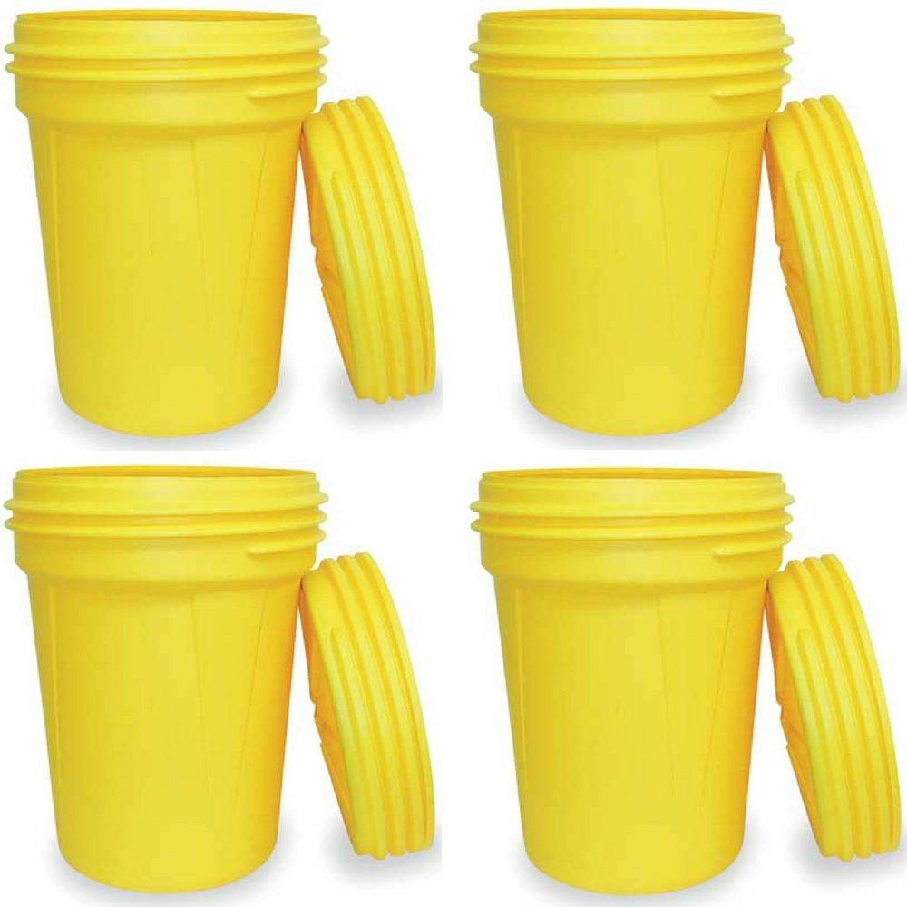 30 gallon Capacity 22.5 Diameter Eagle 1600SL Yellow High Density Polyethylene Lab Pack Drum with Plastic Screw-on Lid 28.25 Height