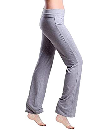 7abfb934600c7 Kidsform Women Yoga Pants, Ladies Trousers, Elasticated Waist Bottoms,Casual  Straight Leggings for Pilates Workout Gym Running Joggers: Amazon.co.uk: ...