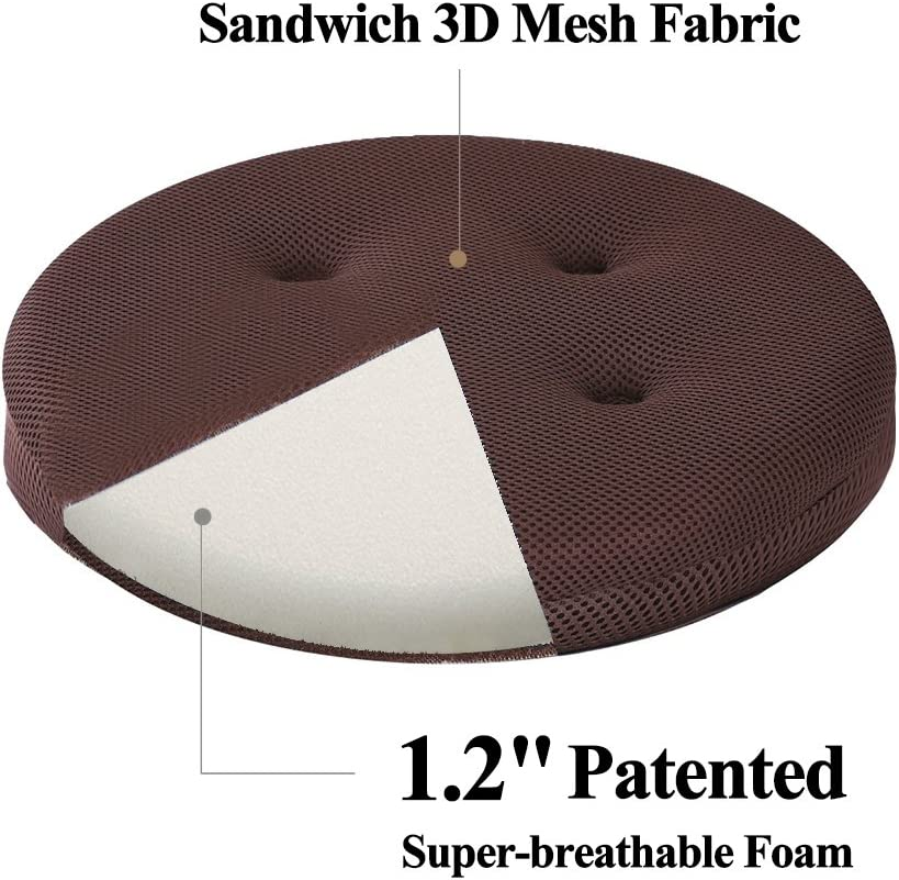 Black 11 One Cushion Only Super Breathable Bar Stool Cover Seat Cushion for Kids Wobble Chair//Flexible Seating Stool baibu Round Stool Cushions