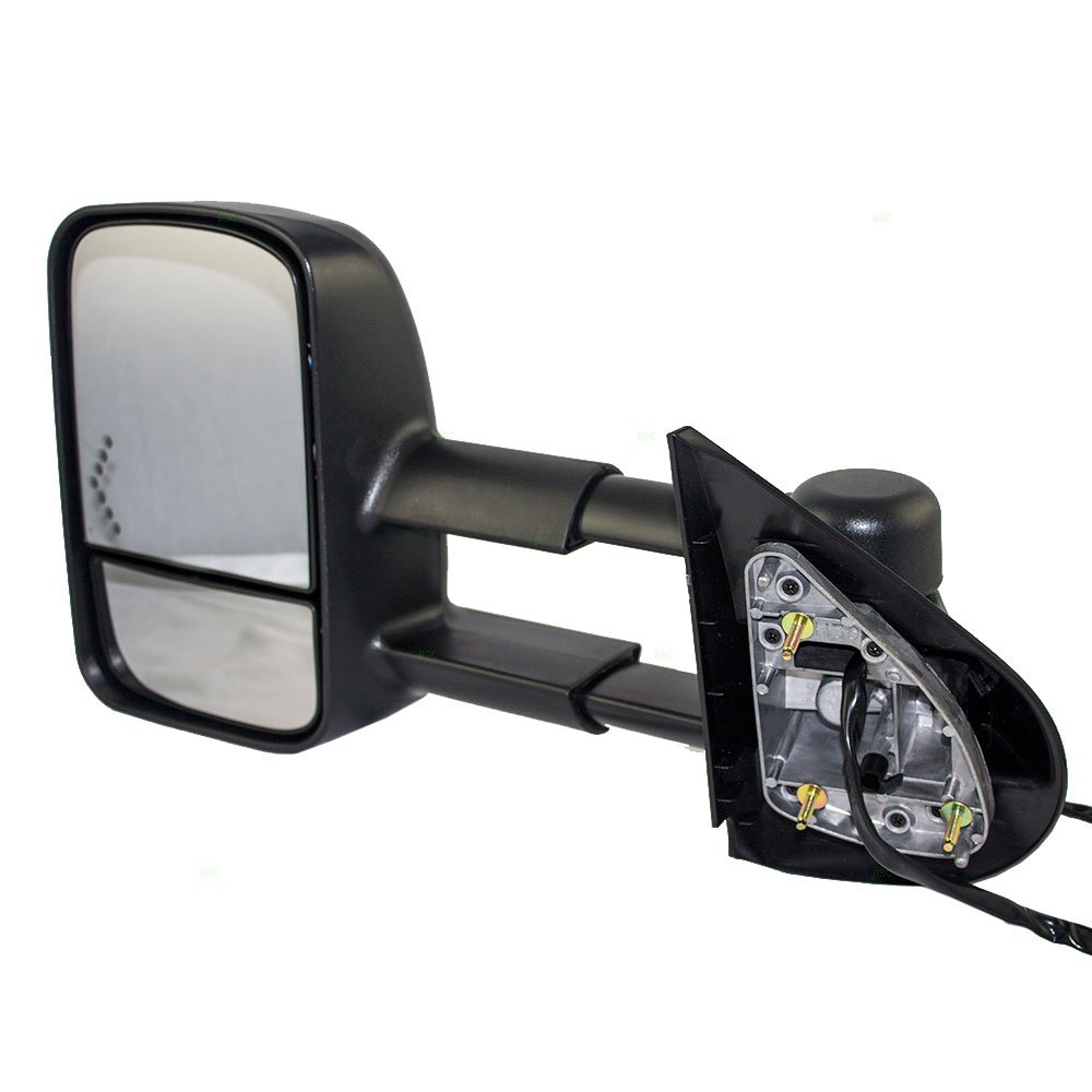 Drivers Power Tow Telescopic Mirror Heated Signal on Glass Replacement for Chevrolet Cadillac GMC SUV Pickup Truck 20862098 AutoAndArt