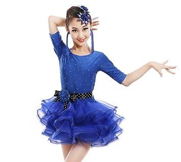 Los niños Trajes de Baile Latino niñas Prueba Nivel de práctica de ...