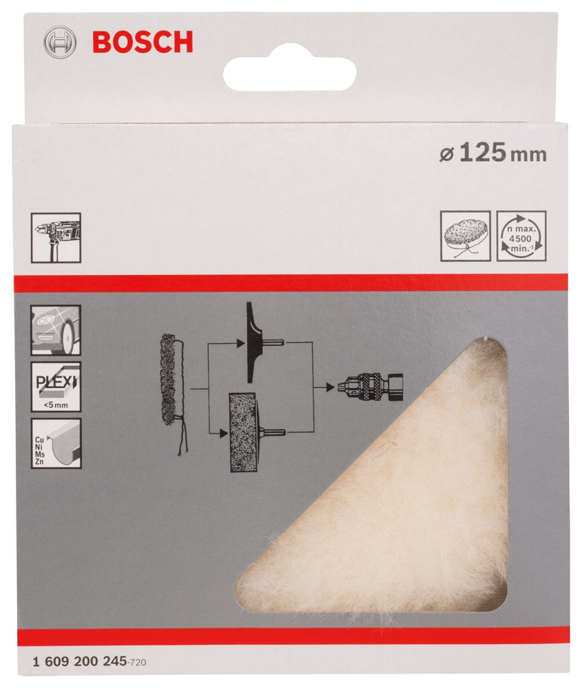 BOSCH Lammwollhaube für Polierer 180 mm