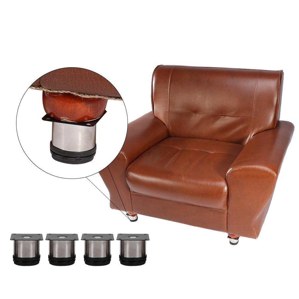 patas de muebles de acero inoxidable Pies de muebles ajustables Patas de gabinete Soporte de soporte redondo Pies de sof/á