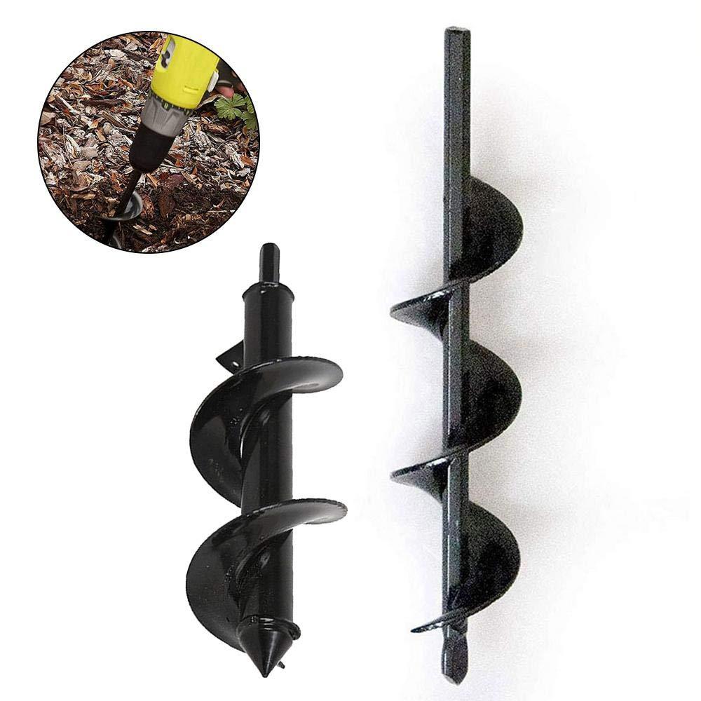 Auger Drill Bit Spiral Bits Post Hole Borer Power Planter Hand Digger Tool Digging for Garden Planting