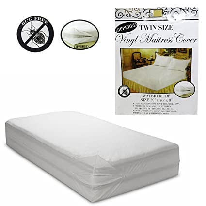 Magnificent Amazon Com 6 Pc Twin Vinyl Zippered Mattress Cover Interior Design Ideas Clesiryabchikinfo