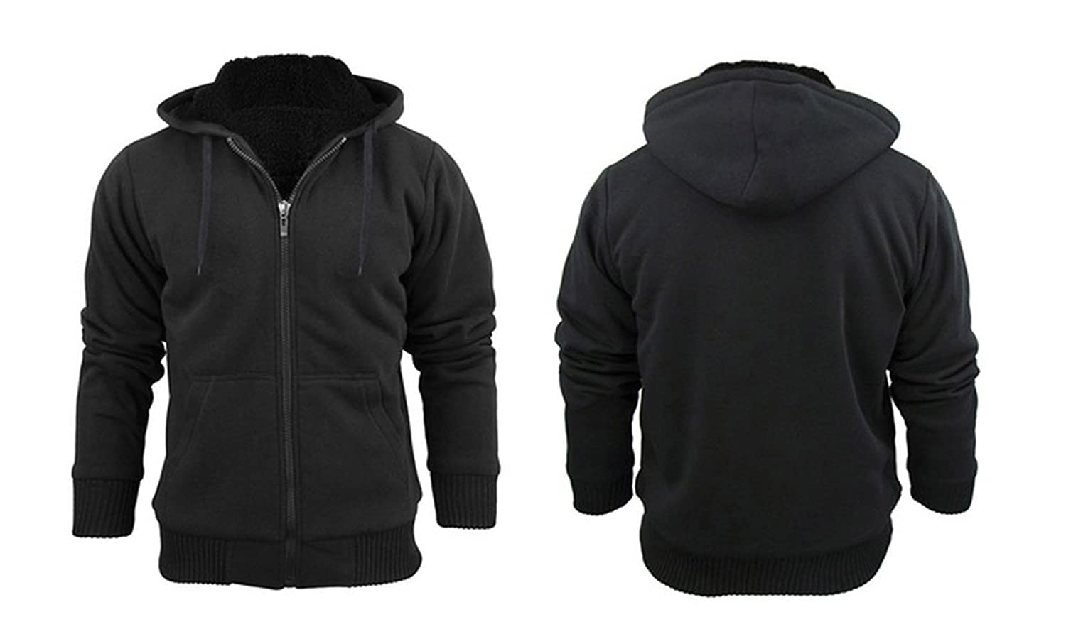 Black jacket with hoodie