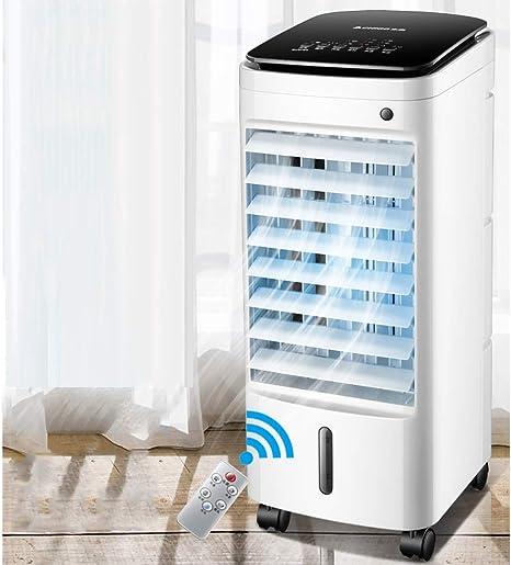 Aire acondicionado Ventilador Refrigerador Enfriador, Hogar Pequeño Cristal de hielo Ventilador eléctrico Enfriamiento por agua en movimiento Aire acondicionado y ...