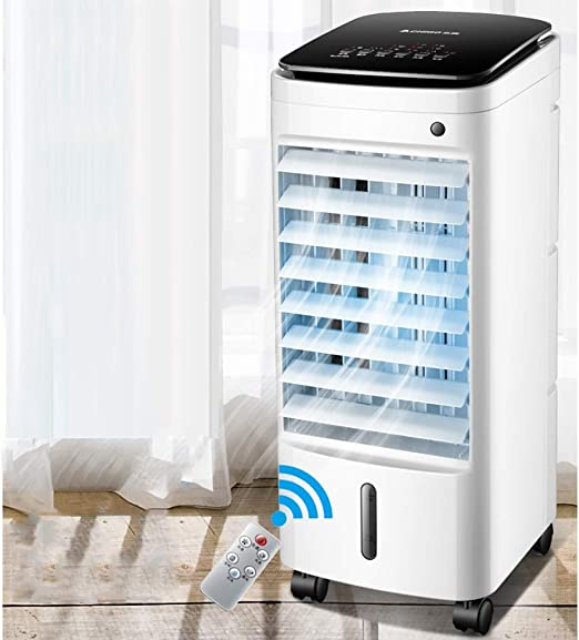 Aire acondicionado Ventilador Refrigerador Enfriador, Hogar Pequeño Cristal de hielo Ventilador eléctrico Enfriamiento por agua en movimiento Aire acondicionado y agua Hielo (Color : Remote style) : Amazon.es: Hogar
