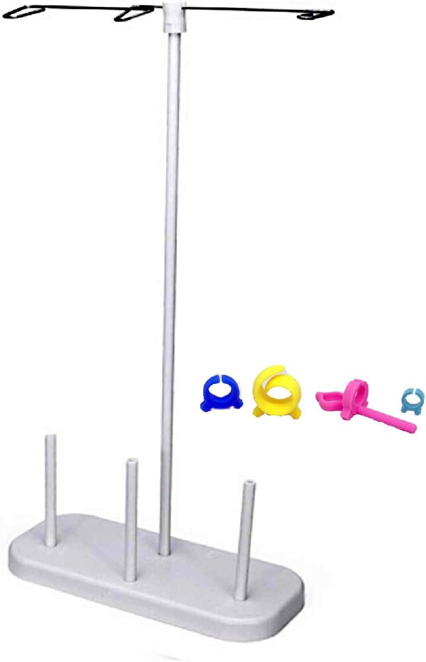 3 bobinas de hilo de coser hilo soporte plástico rosca soporte de la máquina de coser accesorios.: Amazon.es: Juguetes y juegos