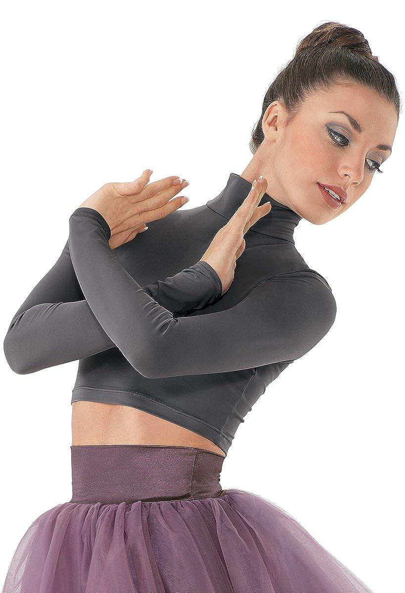 Balera Dance Crop Top Long Sleeve Mock Turtleneck