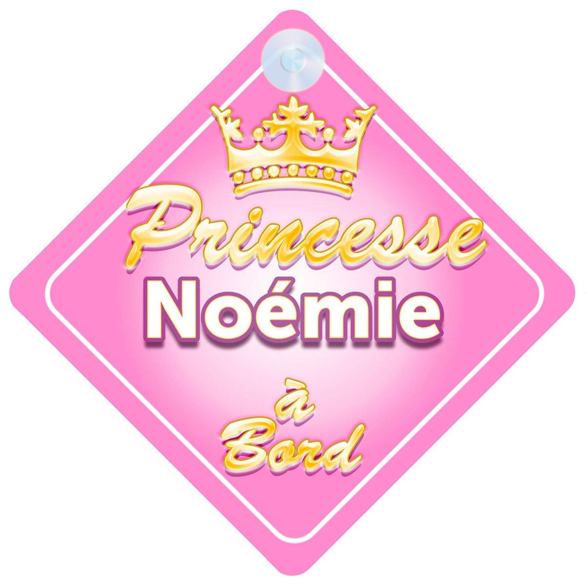 Couronne Princesse Noémie Signe Pour Voiture Enfant/Bébé à Bord durable service