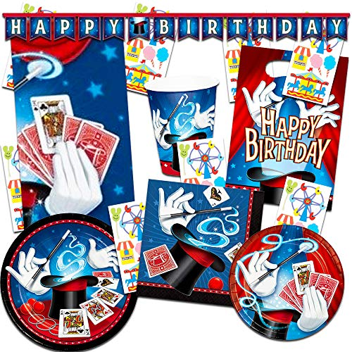 Magic Party Supplies Ultimate Set ~ Birthday Party Decorations, Party Favors, Plates, Cups, Napkins and More (Magic Party Supplies)