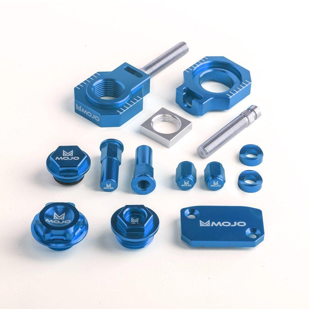 MojoMotoSport - KTM Bling Kit Blue - CNC Billet Anodized Aluminum - MOJO-KTM-BK2BLU