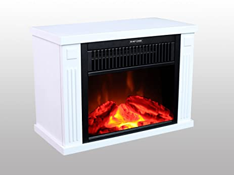 3G Plus 14u0026quot; Mini Electric Fireplace Portable Heater Log Fuel Effect,  1000 Watt