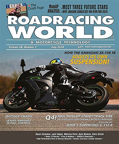ROADRACING Magazine July 2018 KAWASAKI ZX-10R, MotoGP Analysis, Johann Zarco, BMW G 310R
