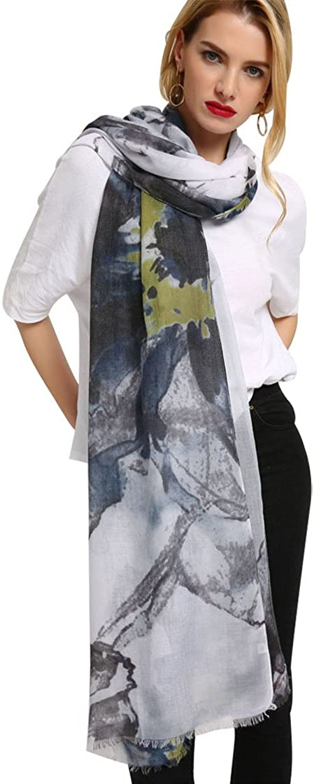 Head Wrap Blue Poppies Butterfly Lunarable Pale Blue Hairscarf
