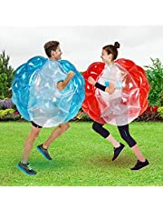 Inflatable Bubble Balls for Kids,Inflatable Buddy Bumper Balls Sumo Game,Giant Human Hamster Knocker Ball Body Zorb Ball for Child Outdoor Team Gaming Play for 6-50 Ages(2pcs 36inch Red+Blue )