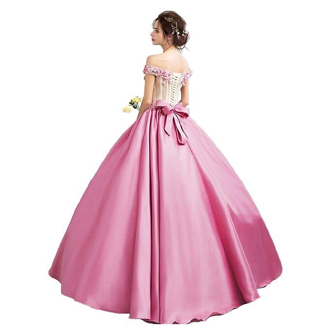 Rillsiy 2018 Nuevas Señoras Rosa Temperamento Hecho A Mano Vestido De Novia De La Tostada De La Boda,Pink,XXL: Amazon.es: Ropa y accesorios