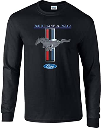 Ford Mustang T-Shirt Ford Mustang Pony & Stripes Long-Sleeve