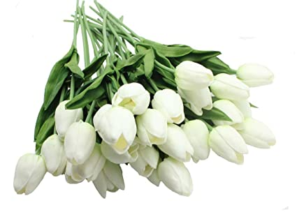 Amazon en ge 10 heads home deocr mini tulip real touch tulip en ge 10 heads home deocr mini tulip real touch tulip artificial flowers bouquets mightylinksfo