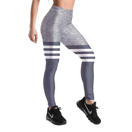 Leggins Desportivos Pantalones Yoga, Sexy Mujer Capri Gris ...
