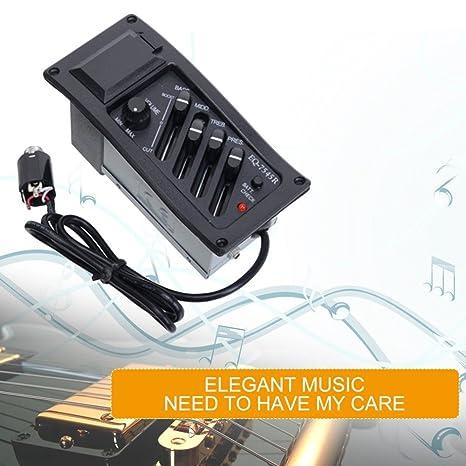 Eq-7545R - Amplificador para guitarra acústica (6,5 mm, salida jack