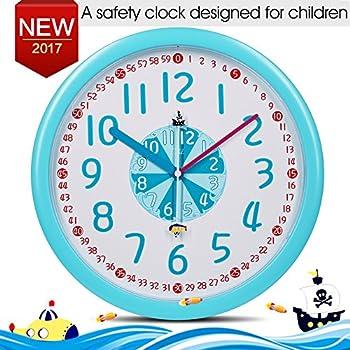 Amazon.com: EasyRead Time Teacher Children's Wall Clock, 12 & 24 ...