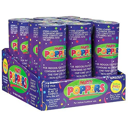Confetti Poppers Party Accessory (24 Pack)