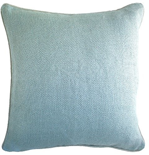 Indias Heritage C899 Ice Blue Linen Basket Weave Pillow44; Ice Blue
