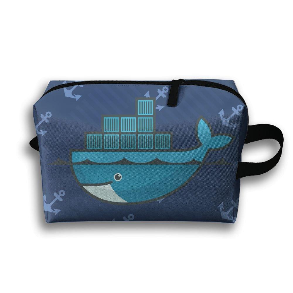 Leisue Ocean Blue Whale City Cosmetic Bag Zipper Makeup Accessories Pouch  Toiletries Bags Pen Pencil Power b31813d7398b8