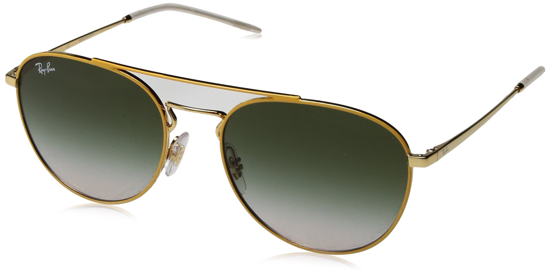 Ray-Ban Women's Metal Woman Square Sunglasses, Gold Top on Yellow, 55 mm